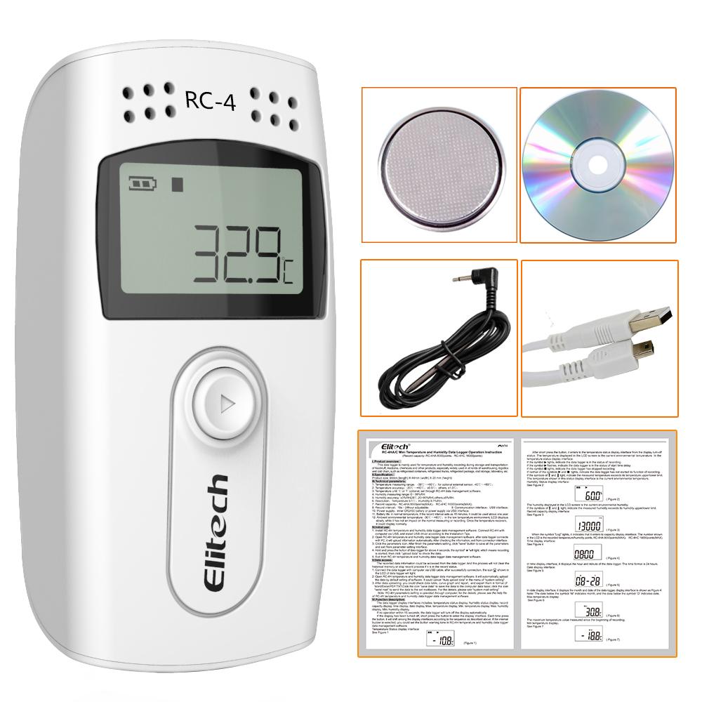 Bộ ghi dữ liệu nhiệt độ USB nhỏ Elitech URC-4 2