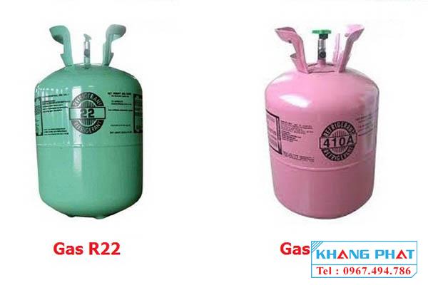 So sánh môi chất lạnh gas R22 và gas R410A
